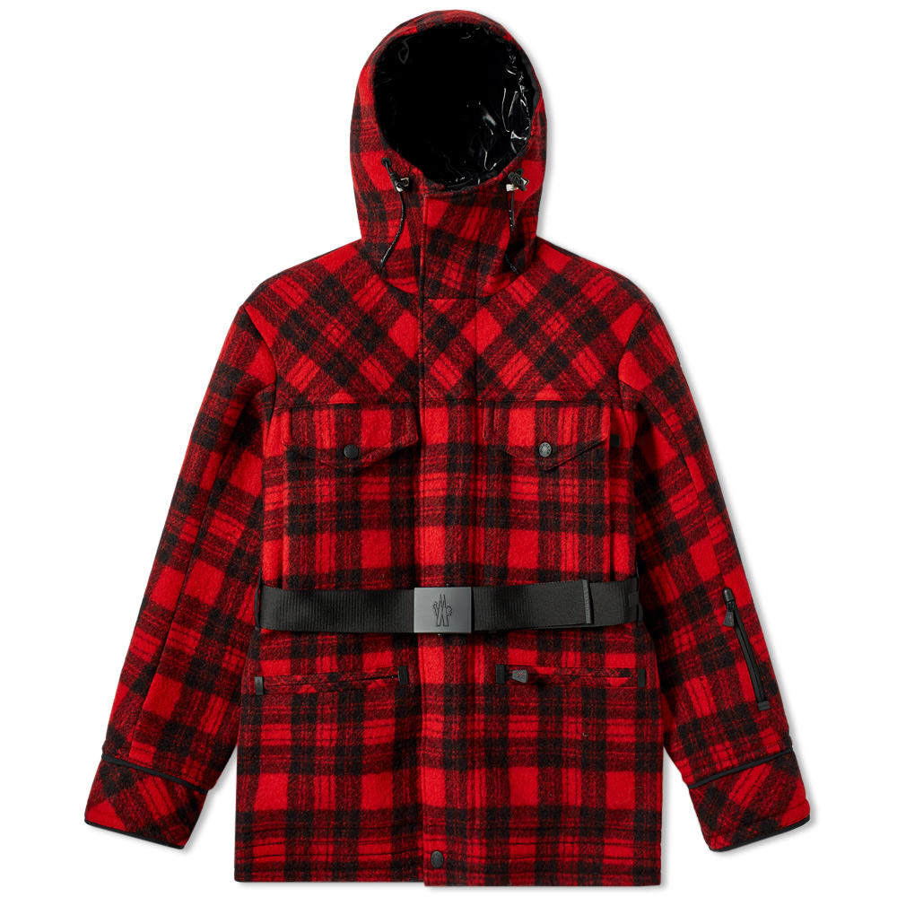 Photo: Moncler Genius 3 Grenoble Stowe Jacket Red & Black Check