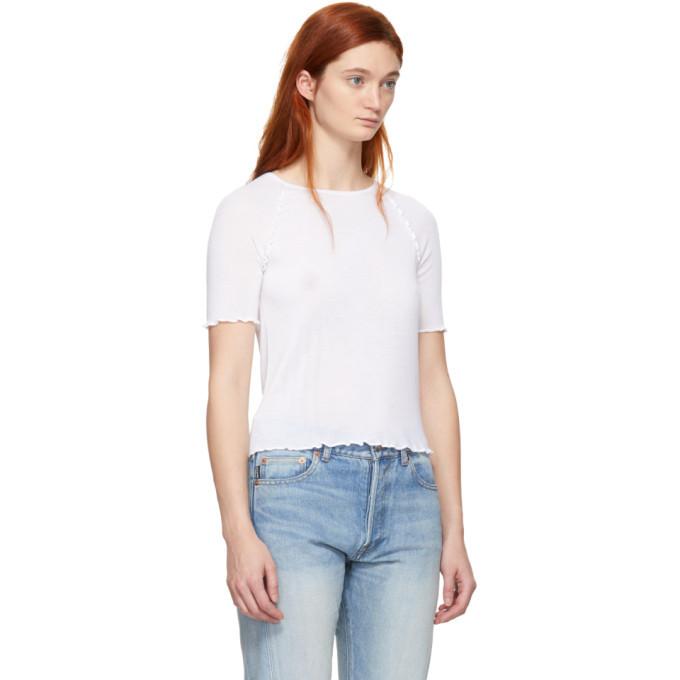 alexanderwang.t White Wool Wash and Go T-Shirt