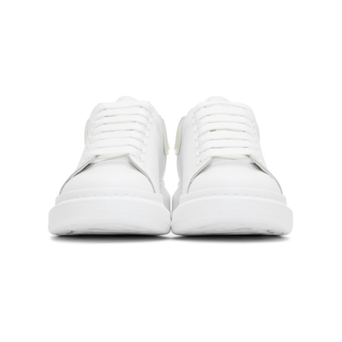 Alexander McQueen White and Transparent Oversized Sneakers