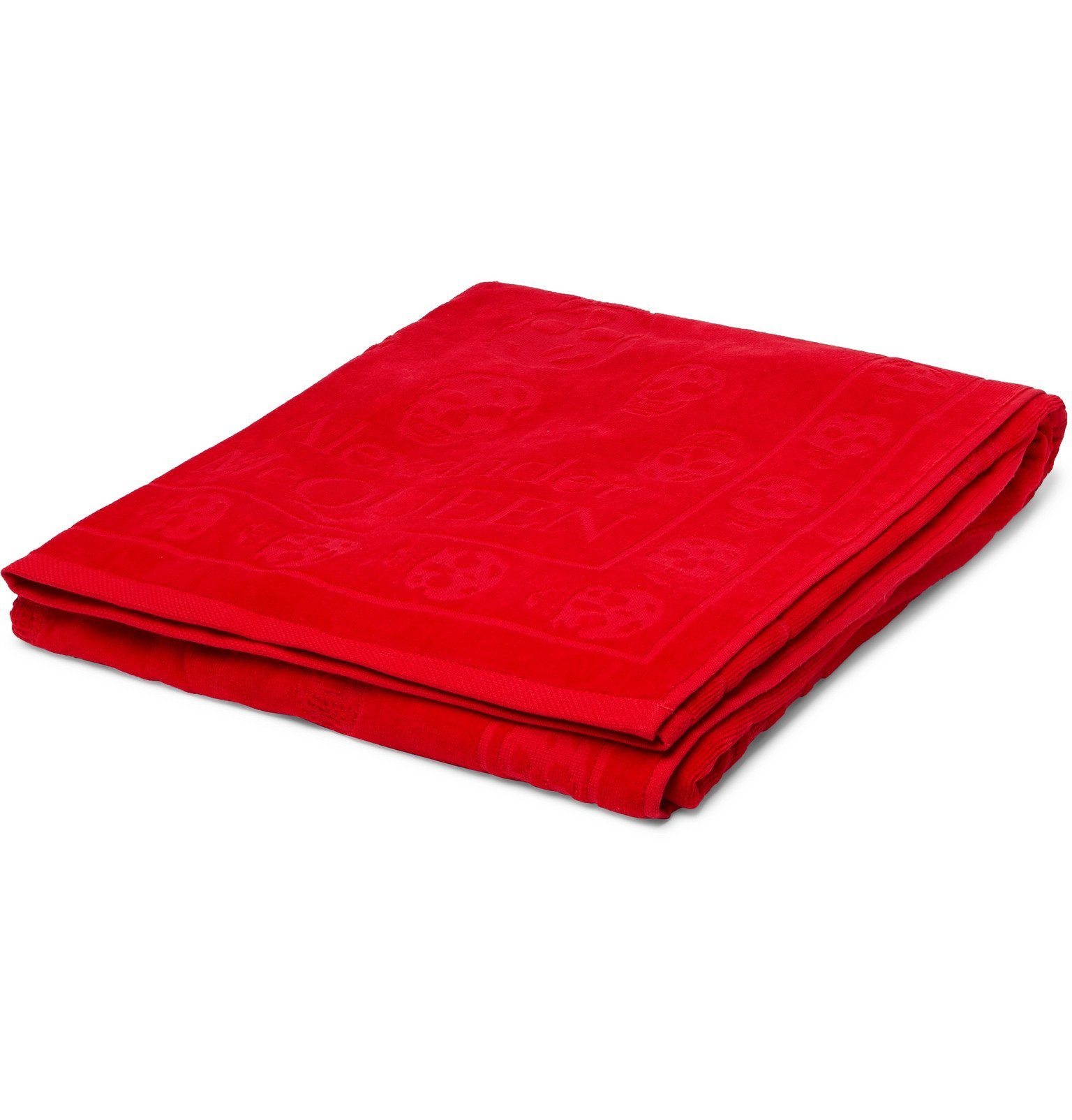 Photo: Alexander McQueen - Cotton-Jacquard Beach Towel - Red