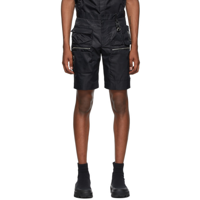 Photo: 1017 ALYX 9SM Black Multipocket Shorts