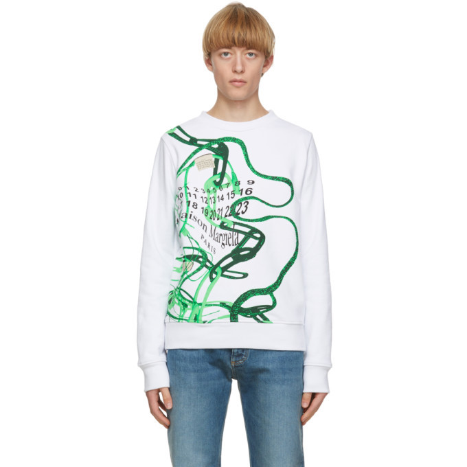 Photo: Maison Margiela White Printed Sweatshirt