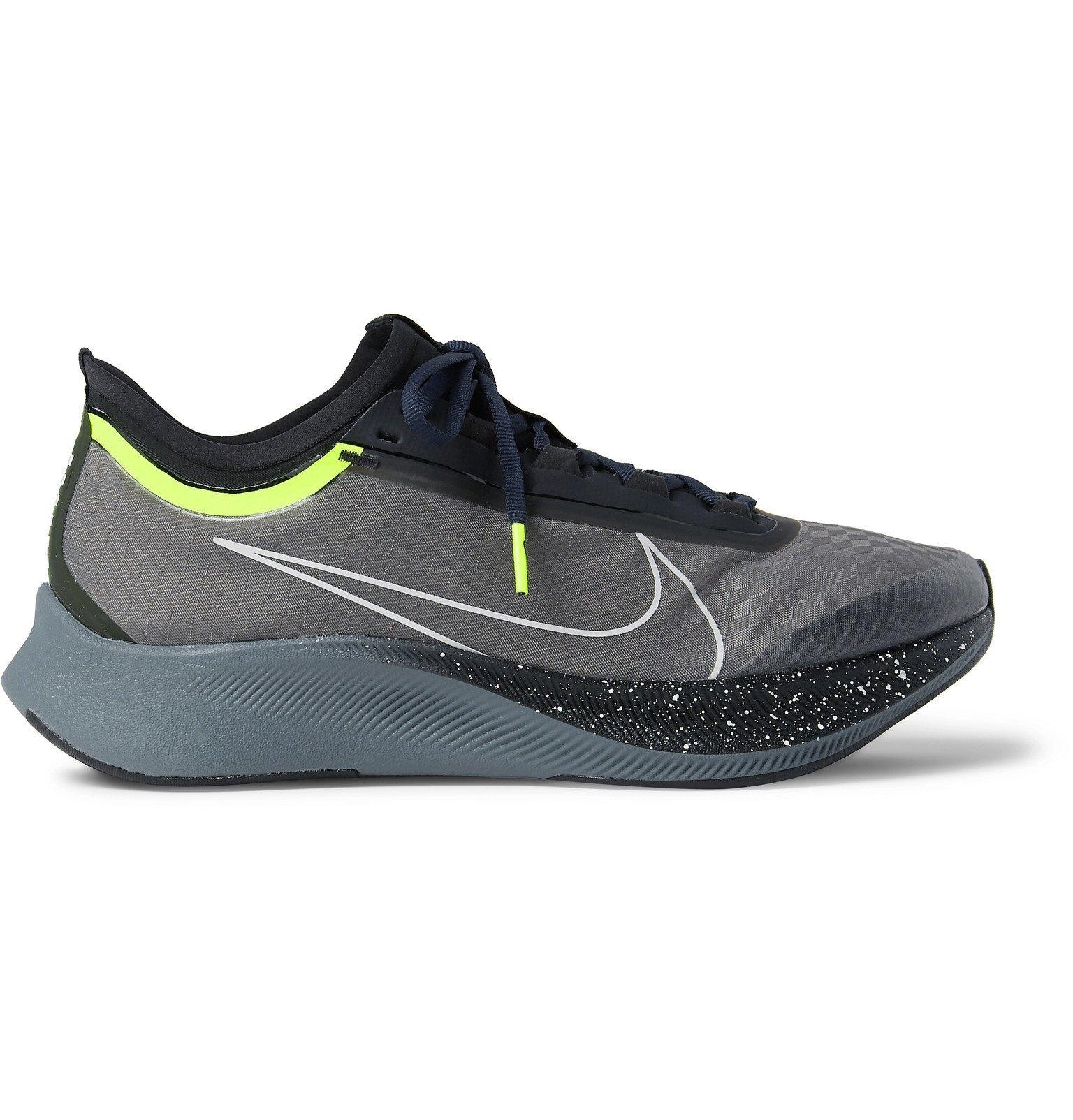 Photo: Nike Running - Zoom Fly 3 Premium Vaporweave Running Sneakers - Black