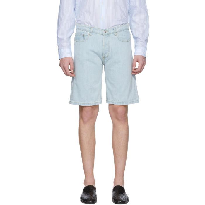 Photo: Éditions M.R  Blue Slim Denim Shorts
