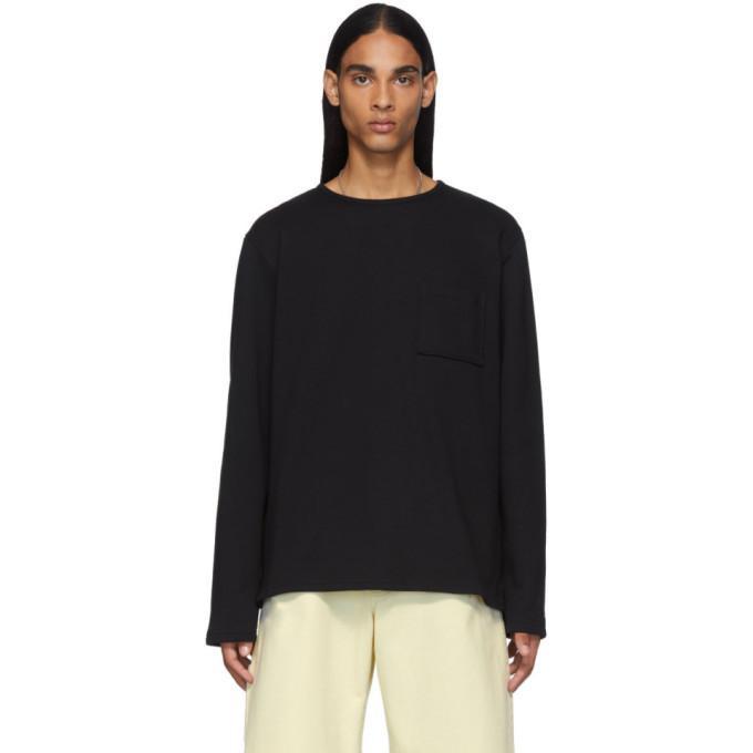 Photo: Bottega Veneta Black Pocket Long Sleeve T-Shirt