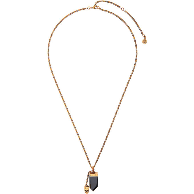 Photo: Alexander McQueen Gold and Black Evening Necklace