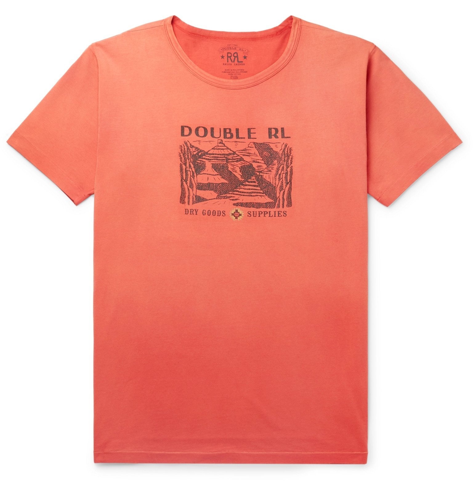 RRL - Printed Cotton-Jersey T-Shirt - Red