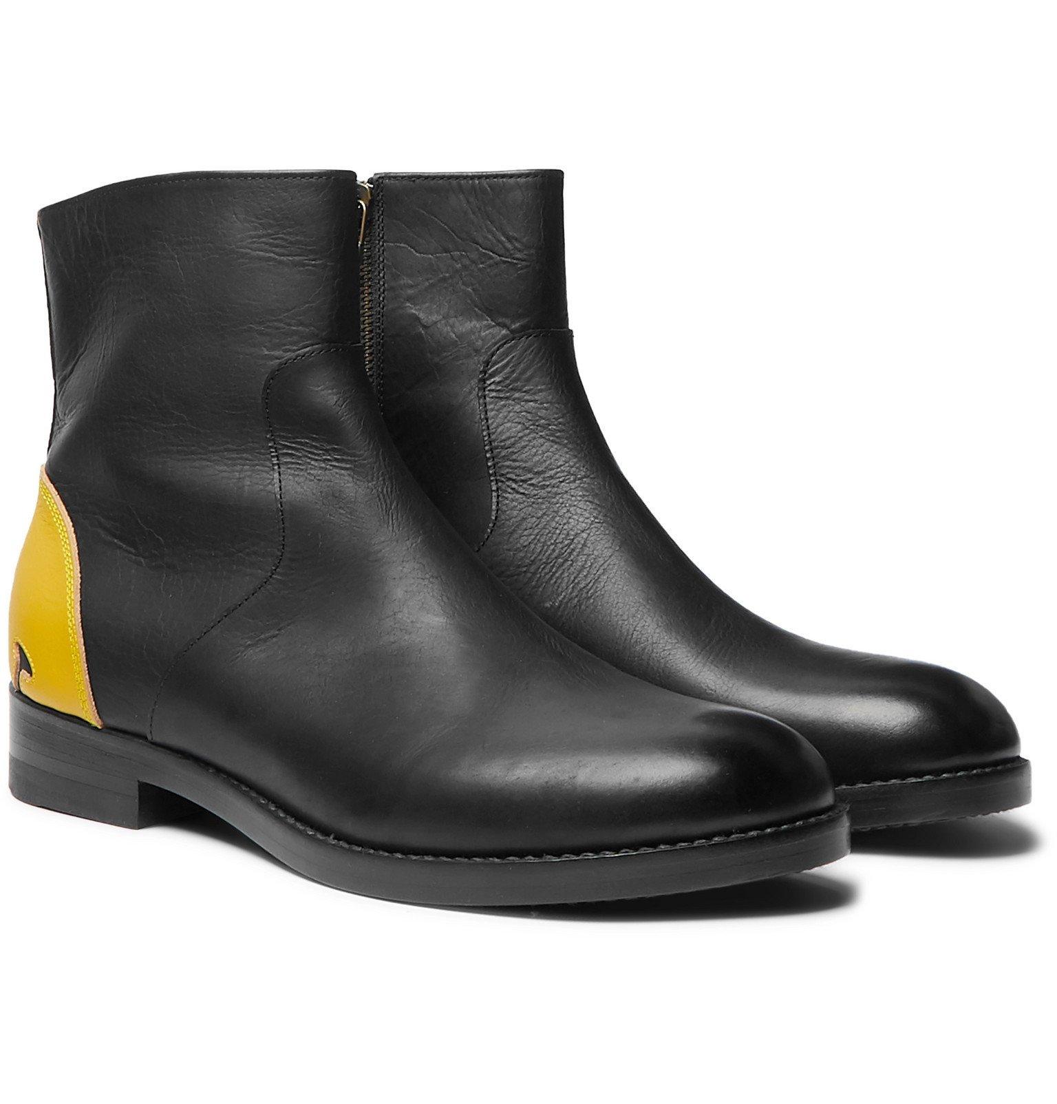 Photo: KAPITAL - Smiley Leather Chelsea Boots - Black