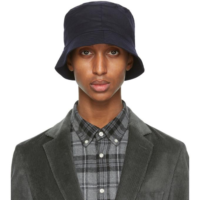 Photo: Officine Generale Navy Wool Bucket Hat