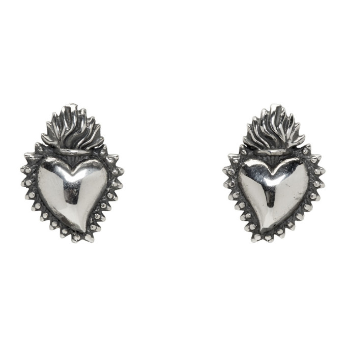 Photo: Ugo Cacciatori Silver Tiny Ex Voto Stud Earrings