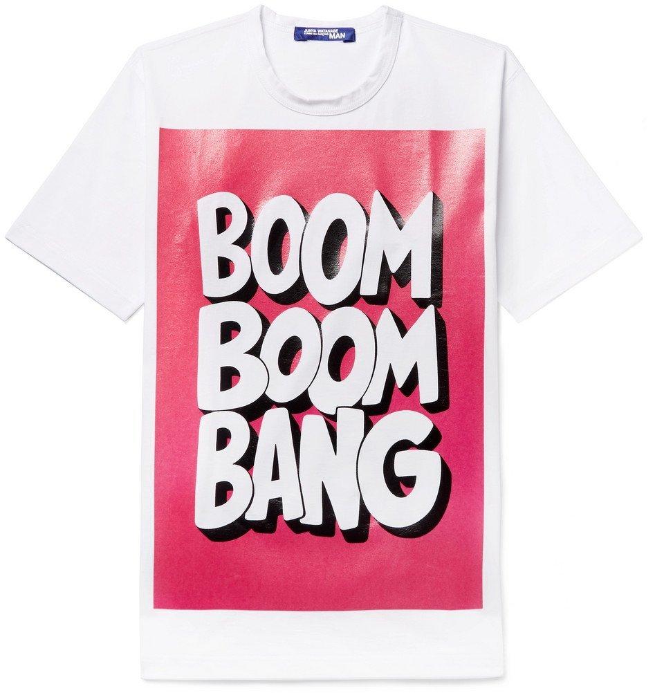 4c7d57ffad Junya Watanabe - Printed Cotton-Jersey T-Shirt - White Junya Watanabe