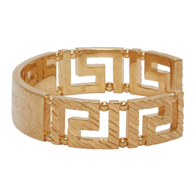 Versace Gold Address Plate Bracelet