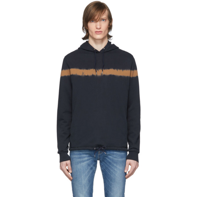 Photo: PS by Paul Smith Navy Tie-Dye Hoodie