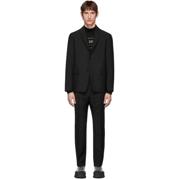 Photo: Jil Sander Black Wool and Mohair Essential Suit