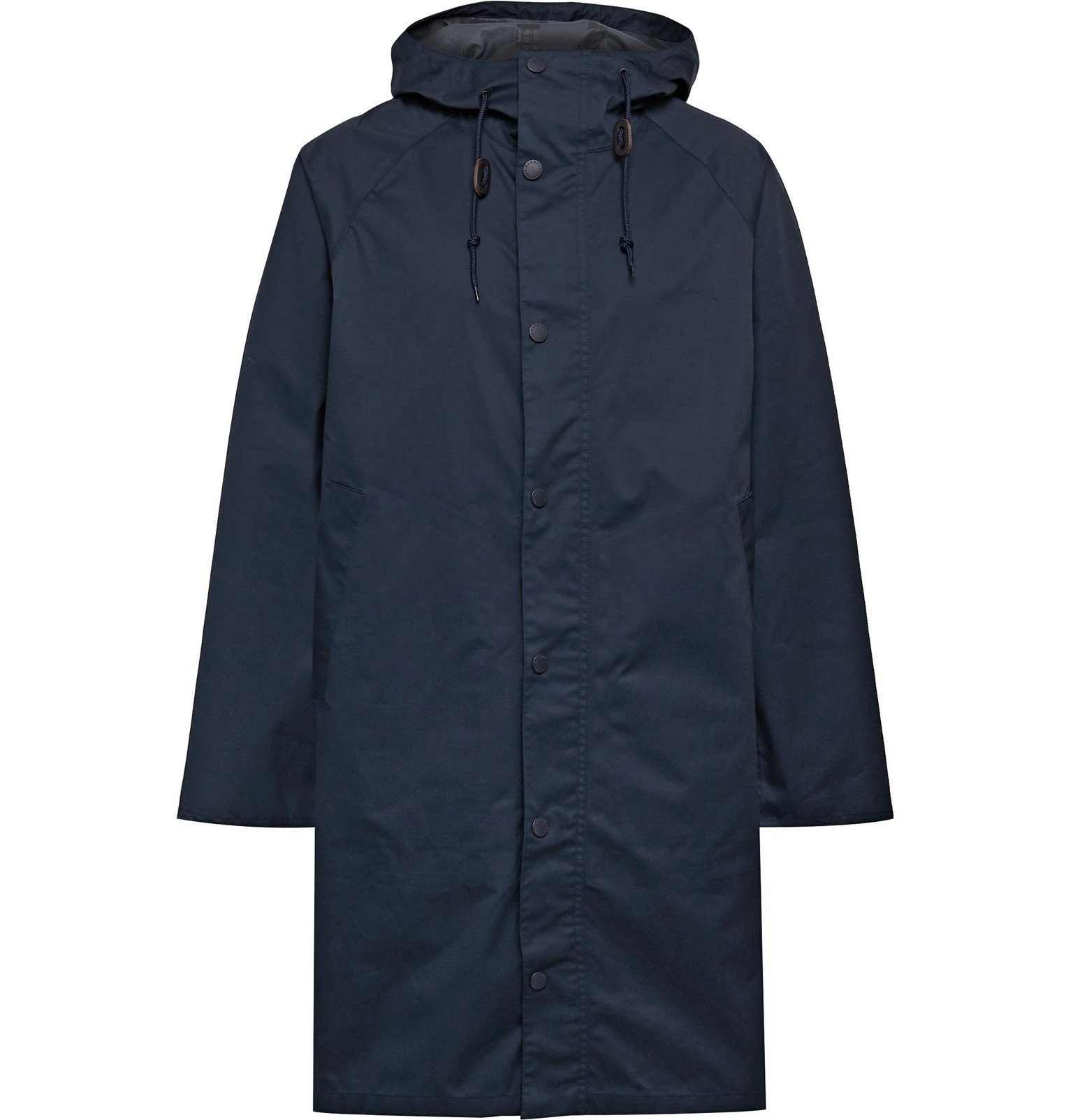 Photo: Barbour White Label - Slim-Fit Cotton-Blend Hooded Jacket - Blue