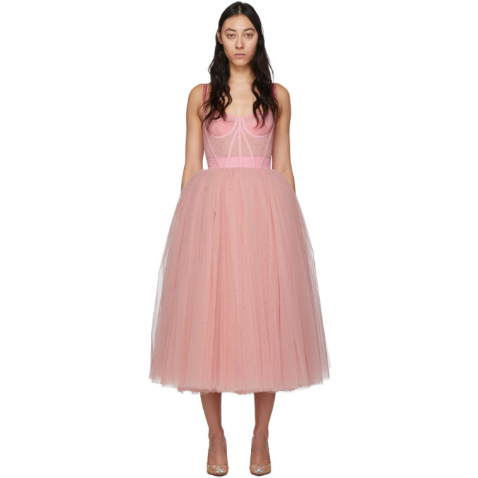 Photo: Dolce and Gabbana Pink Tulle Bustier Dress