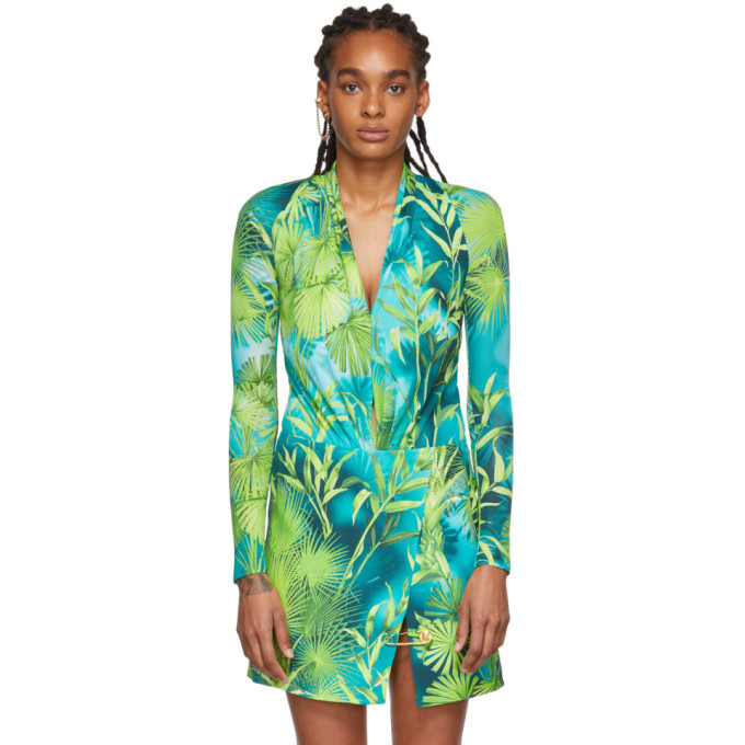 Photo: Versace Green Jungle Bodysuit