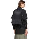 Sacai Black Denim Short Sleeve Shirt
