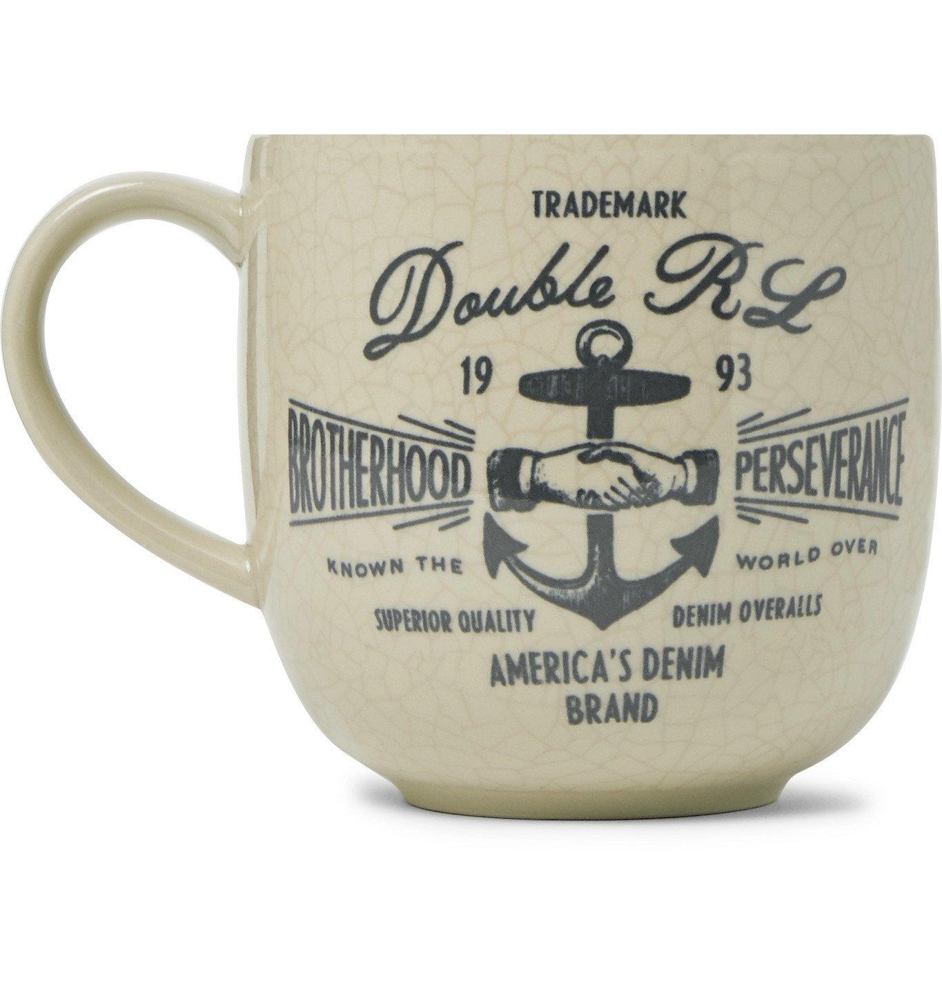 RRL - Logo-Print Stoneware Souvenir Mug - Neutrals