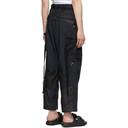 Sacai Black Cotton-Blend Cargo Pants