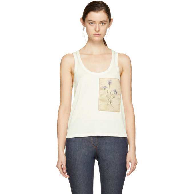 Photo: Bottega Veneta Ivory Flower Patch Tank Top