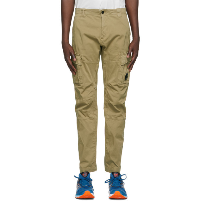Photo: C.P. Company Beige Stretch Sateen Garment-Dyed Cargo Pants