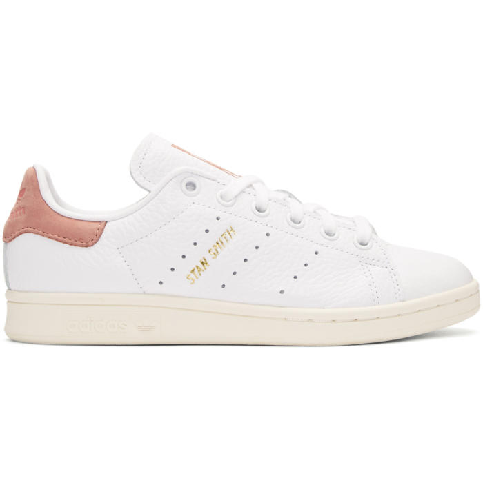 adidas Originals x Pharrell Williams White and Pink Stan Smith Sneakers