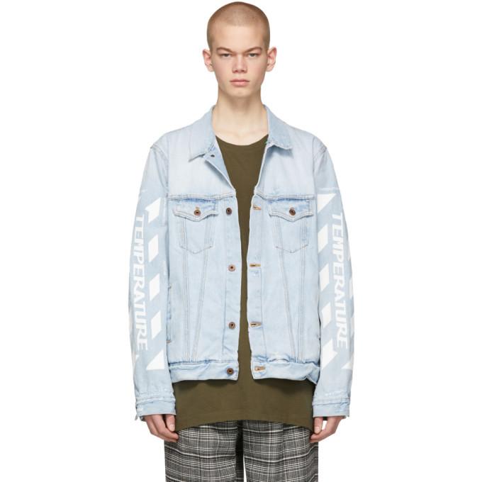 Photo: Off-White SSENSE Exclusive Blue Denim Temperature Jacket