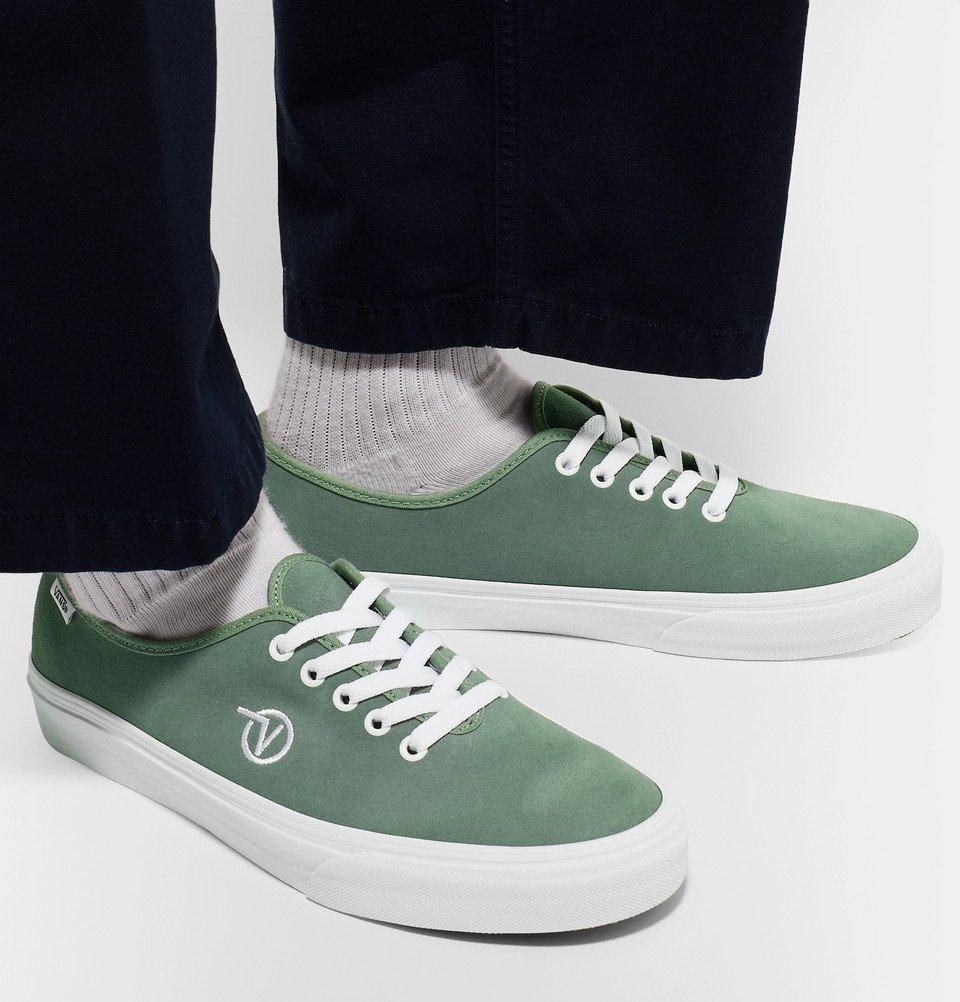 89215eaadb Vans - UA Authentic One Piece Suede Sneakers - Men - Sage green Vans
