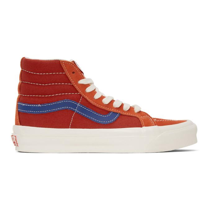 Photo: Vans Red and Blue OG Sk8-Hi LX Sneakers