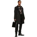 Burberry Black Kensington Heritage Mid-Length Trench Coat