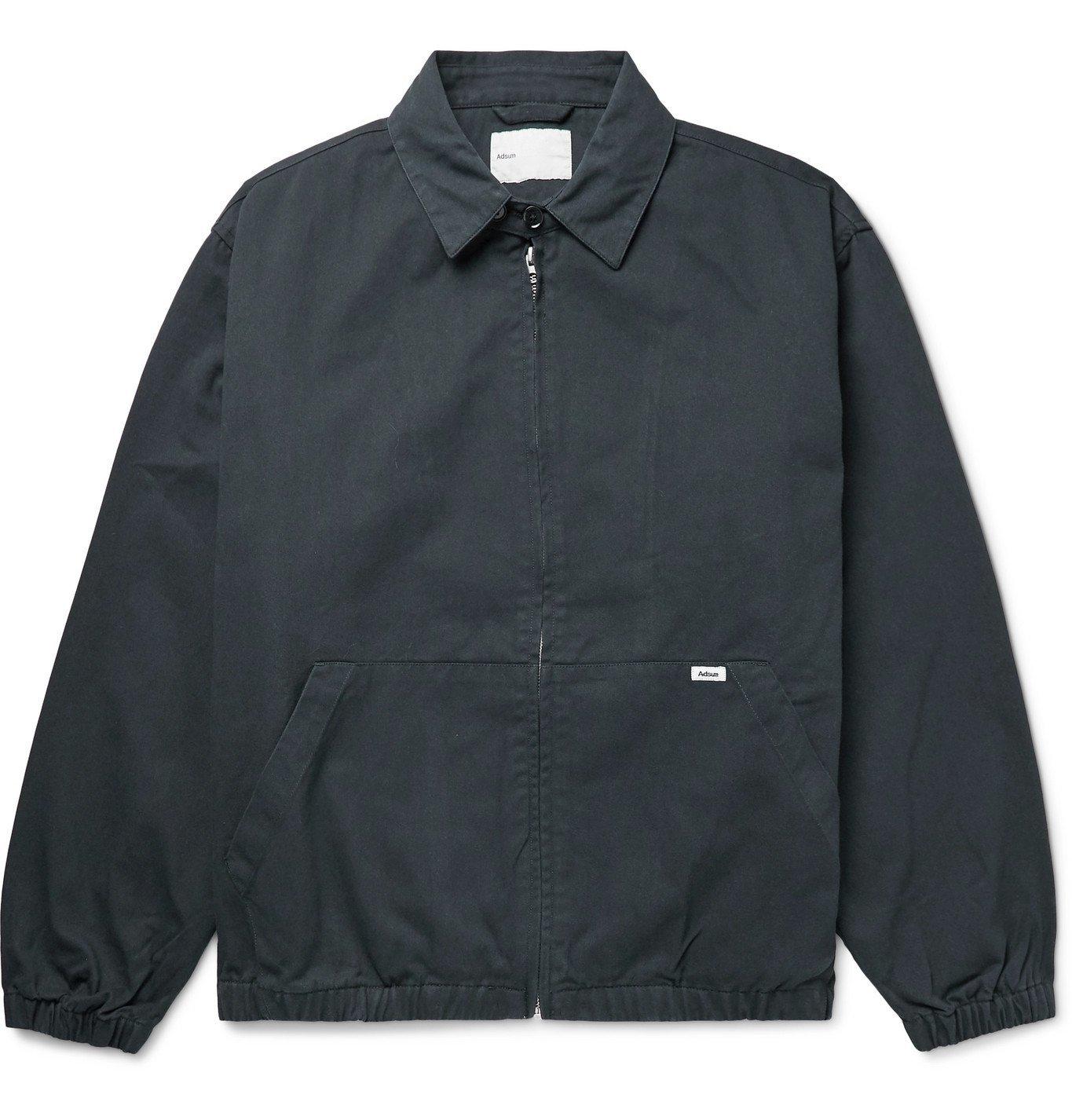Photo: Adsum - Crew Cotton-Twill Harrington Jacket - Blue