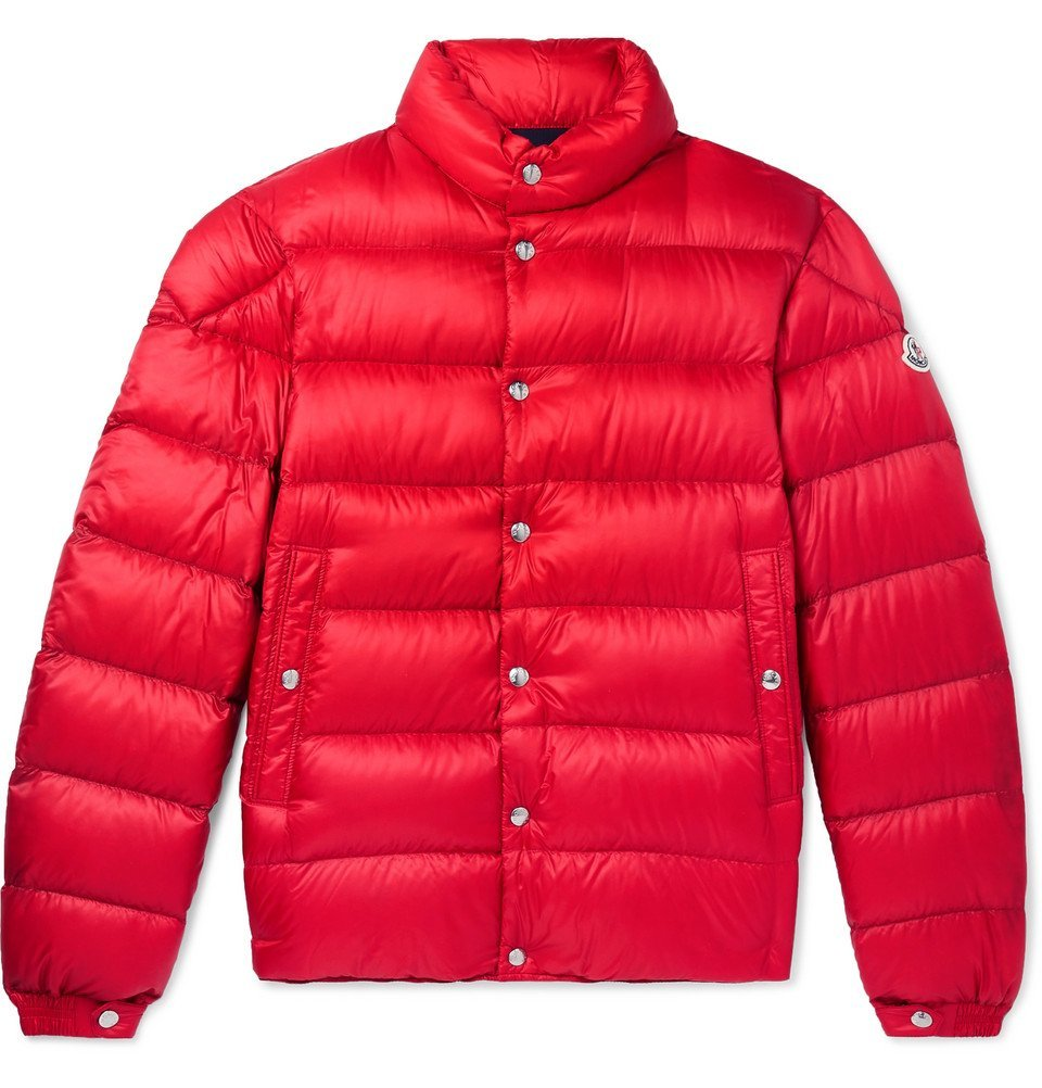 Photo: Moncler - Piriac Slim-Fit Quilted Shell Down Jacket - Red