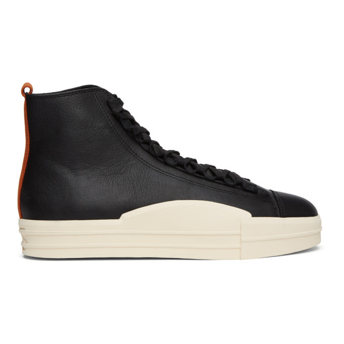 Photo: Y-3 Black Yuben High-Top Sneakers