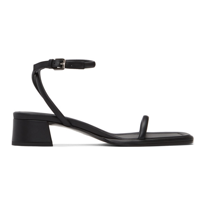 Photo: The Row Black Kate Low Heel Sandals