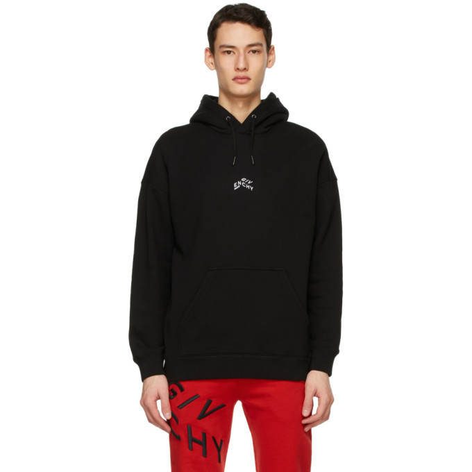 Photo: Givenchy Black Embroidered Refracted Hoodie