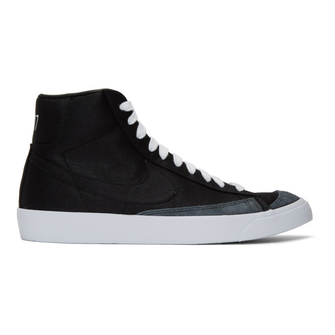 Photo: Nike Black Blazer Mid 77 Vintage Sneakers