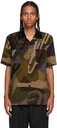 Sacai Green KAWS Edition Corduroy Camo Short Sleeve Shirt