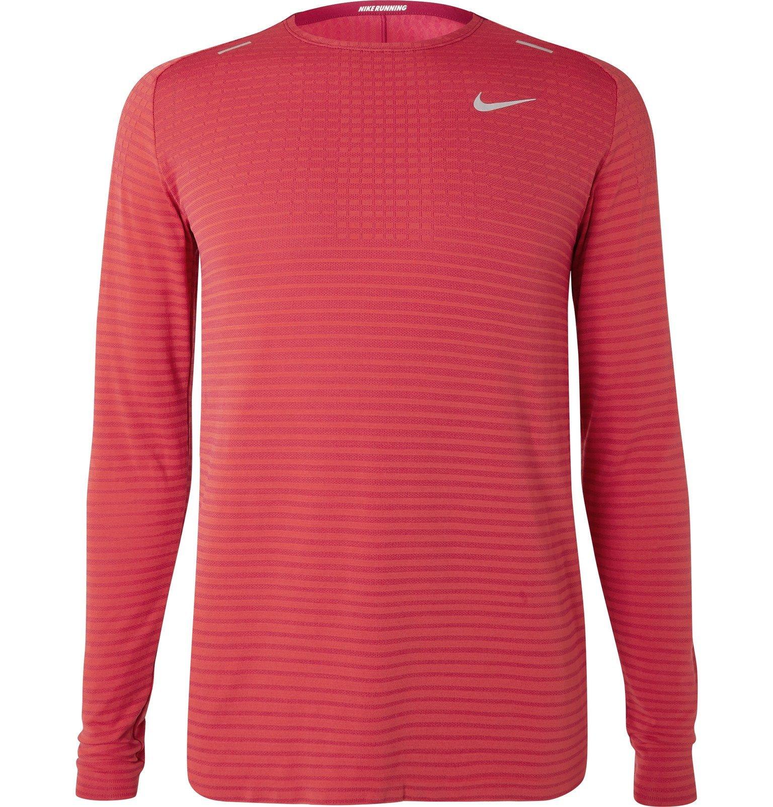 Nike Running - Ultra Slim-Fit TechKnit T-Shirt - Red