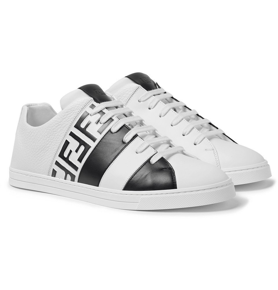 Fendi - Logo-Print Leather Sneakers