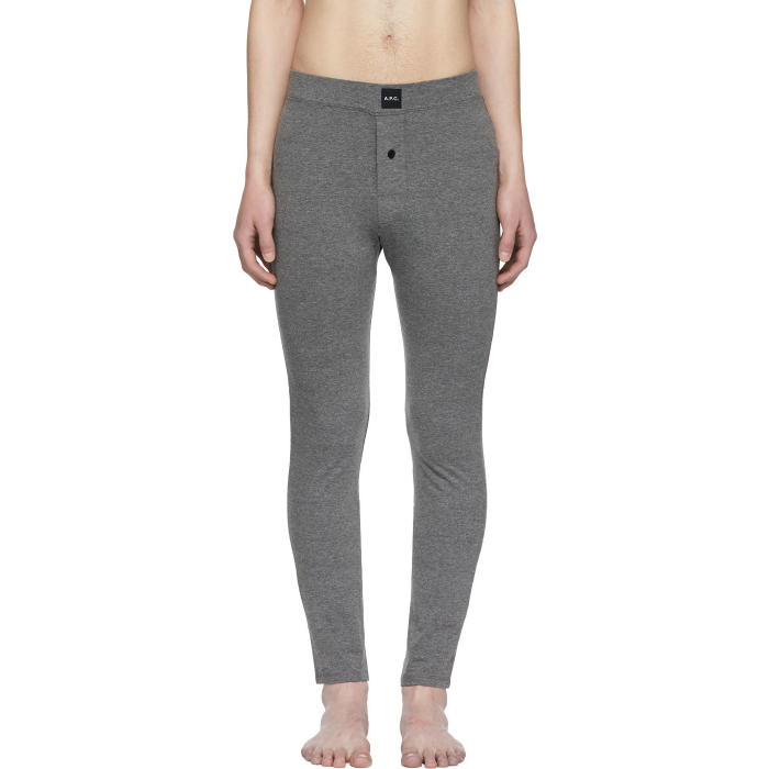 Photo: A.P.C. Grey Long Jeff Leggings