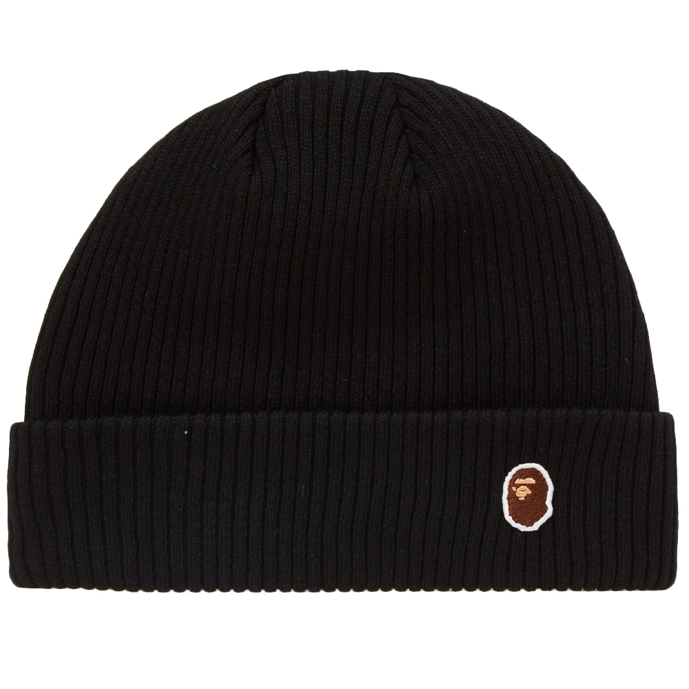 48a309146ec A Bathing Ape Ape Head One Point Knit Cap A Bathing Ape