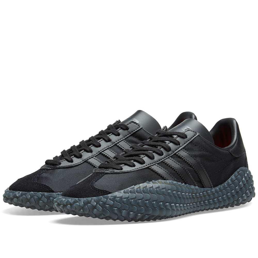 Adidas Country x Kamanda Black & Solar Red