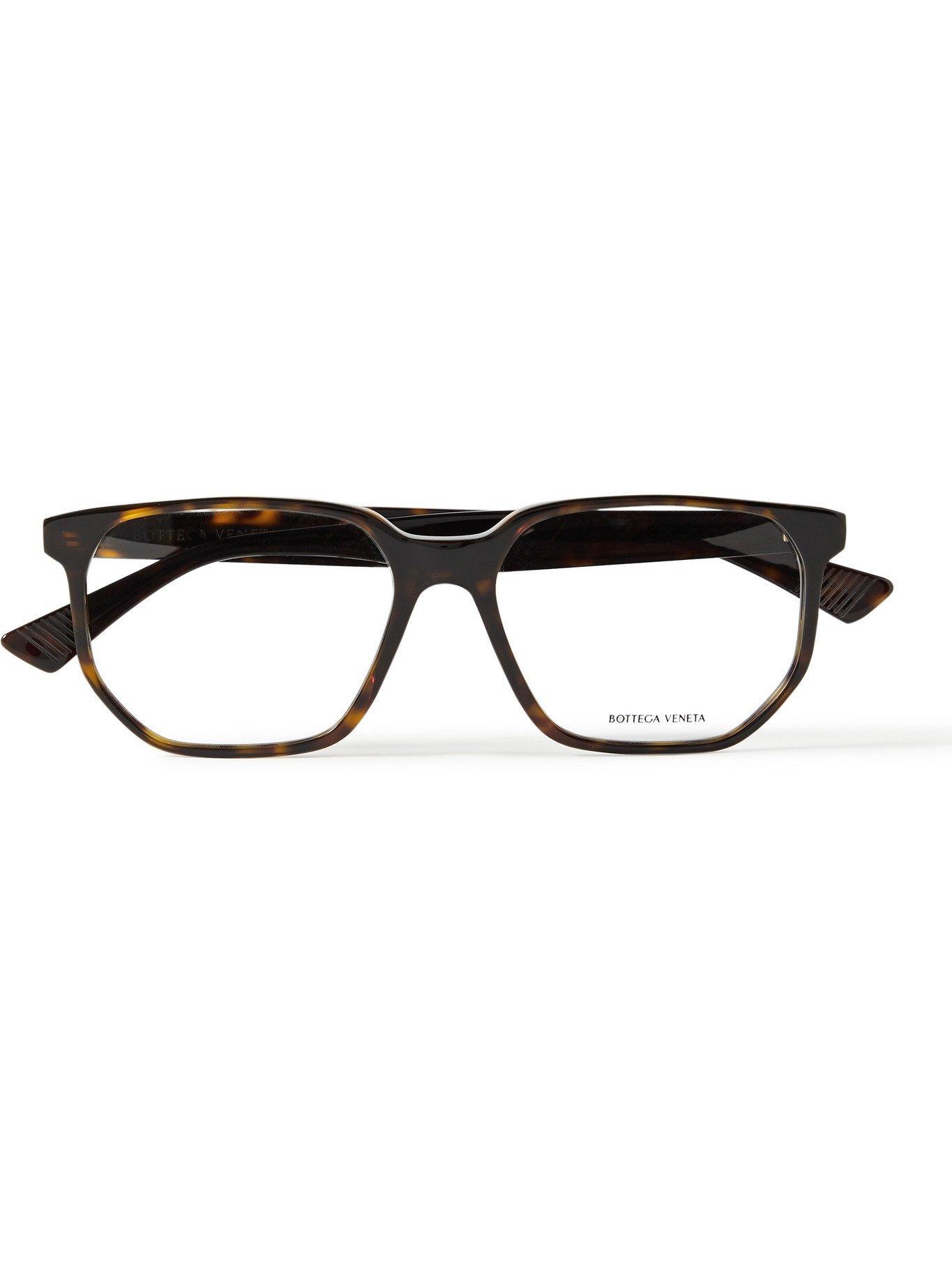 Photo: BOTTEGA VENETA - D-Frame Acetate Optical Glasses - Tortoiseshell