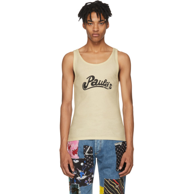 Photo: Loewe Beige Paulas Ibiza Edition Logo Tank Top