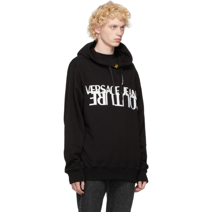Versace Jeans Couture Black and White Logo Hoodie