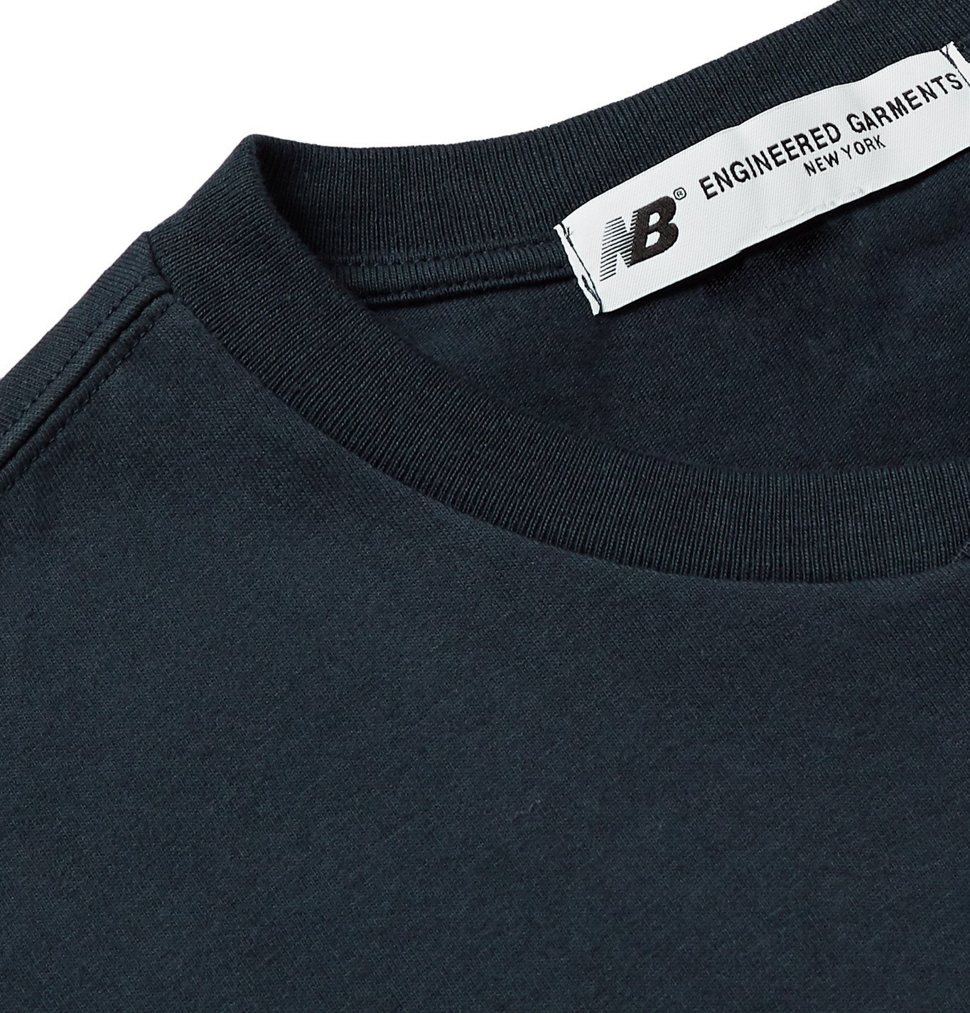 New Balance - Engineered Garments Logo-Print Mélange Cotton-Jersey T-Shirt - Blue