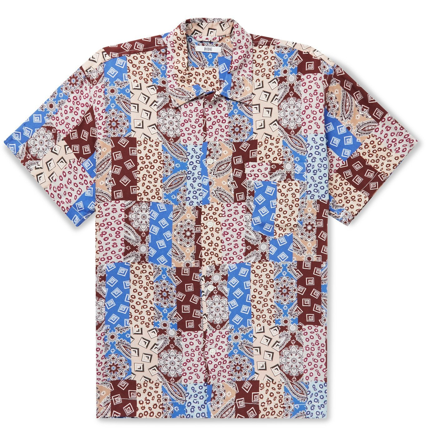 Photo: BODE - Eastern Paisley Camp-Collar Printed Woven Shirt - Burgundy