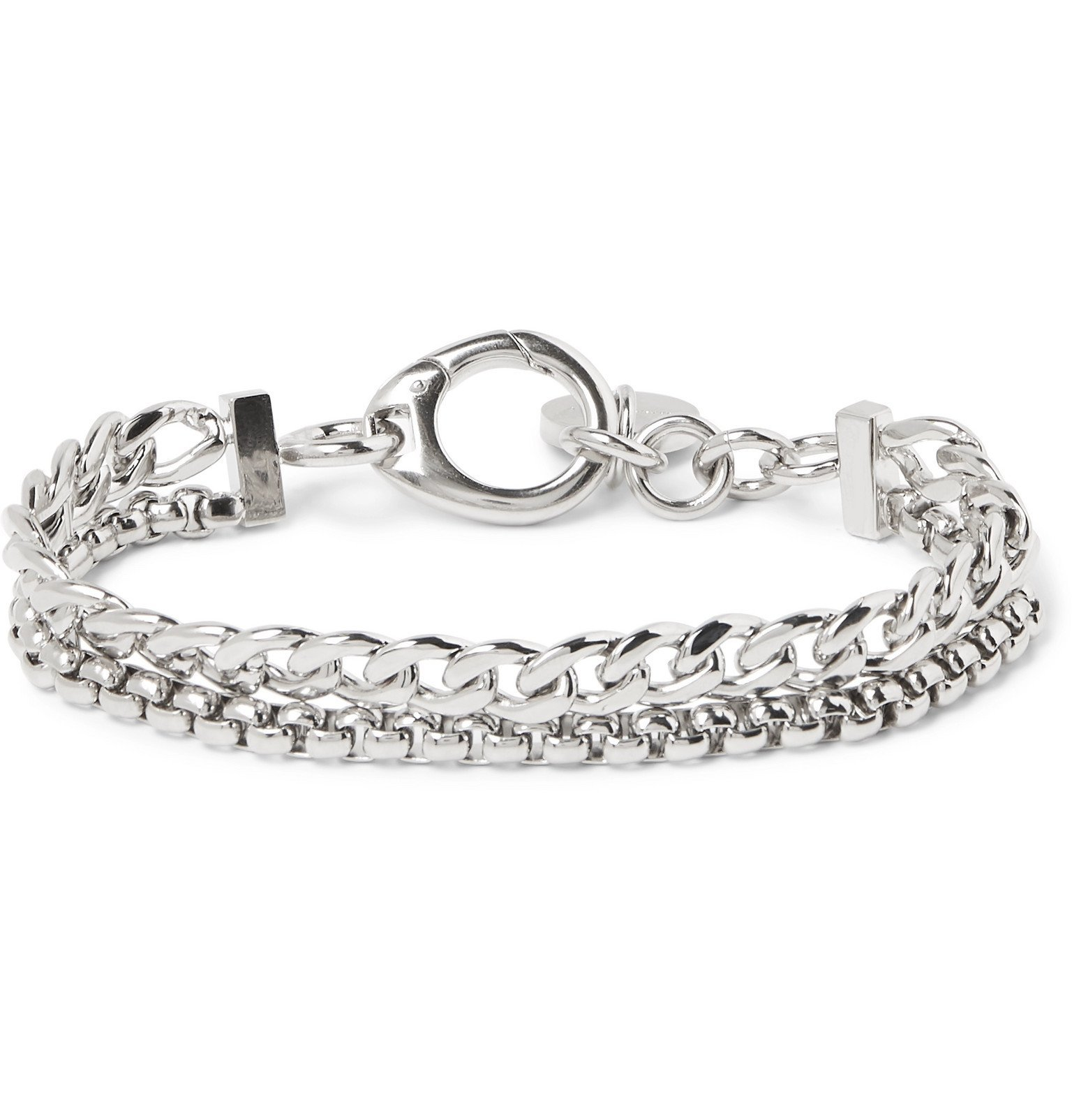 Photo: Givenchy - Silver-Plated Chain Bracelet - Silver