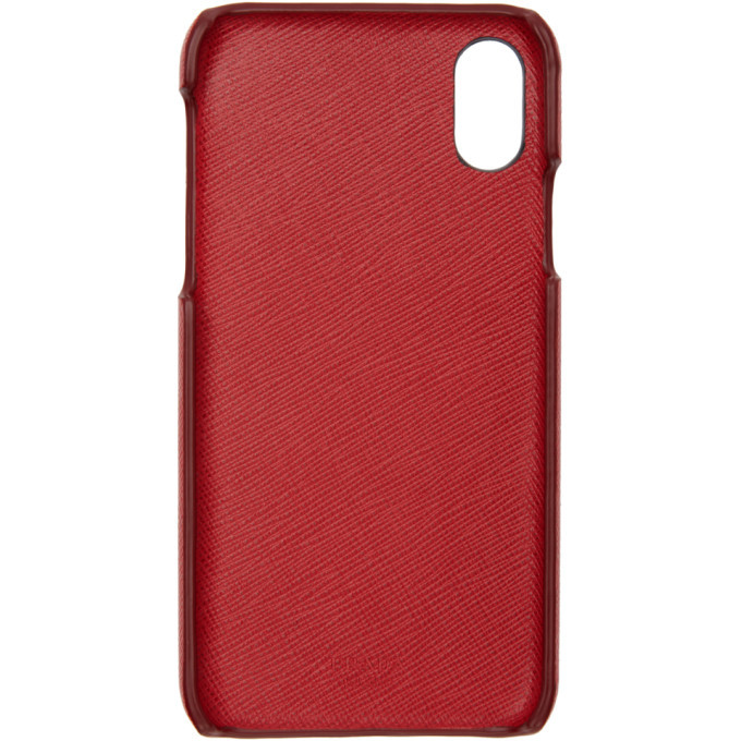 Prada Red Saffiano iPhone X Case